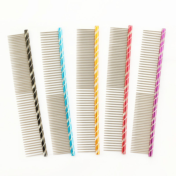 armipet Dog Pet Comb 6062003 Bright Multi-Colored Stripe Grooming Comb For Shaggy Cat Dogs Barber Grooming Tool Salon 5 Color