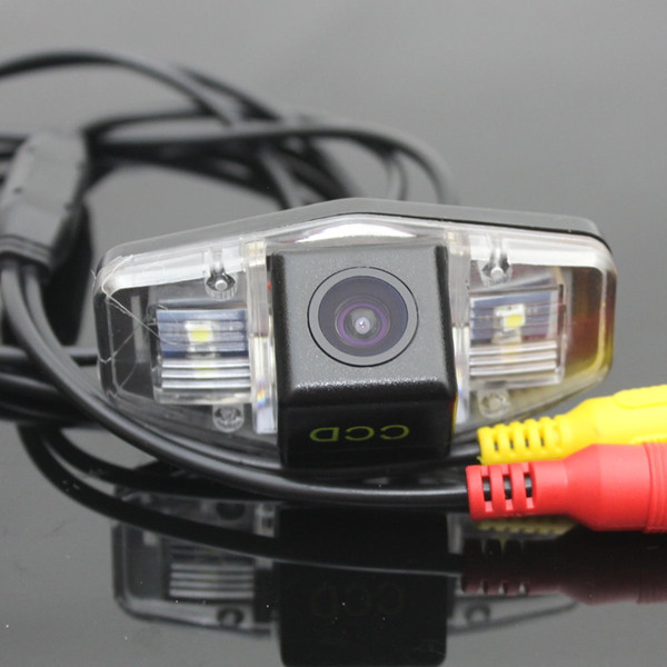 Car Camera For Honda Accord Rear View Camera / HD CCD RCA NTST PAL / License Plate Light OEM