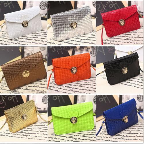 20pc Girl PU Leather Button Clutch Wallet coin Purse Handbag Mini Cross-Body Bag Phone case messenger bag