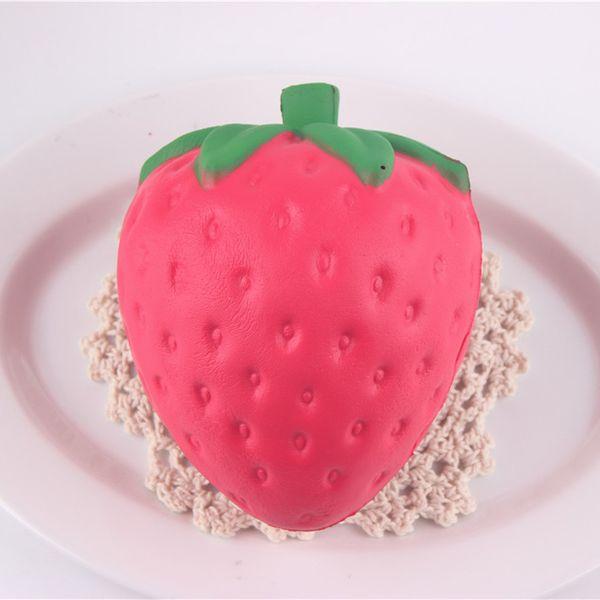 New 20PCS/LOT PU 8cm New Cute cartoon strawberry squishy charm / PU mobile phone strap Charms Pendant Bread Kids Toy
