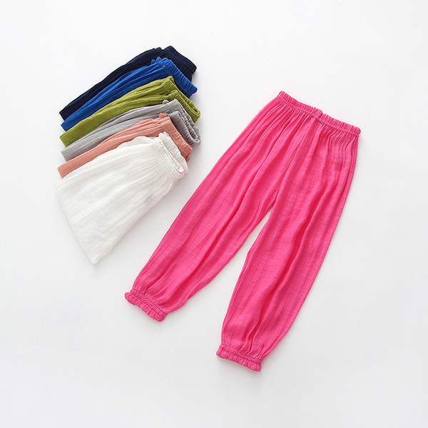 Children anti-mosquito pants Summer ultra-thin breathable knickerbockers Baby air conditioner trousers