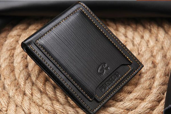 Top quality New style mens brand designer leather luxury purse wallet short cross high quality wallets for men free shipping