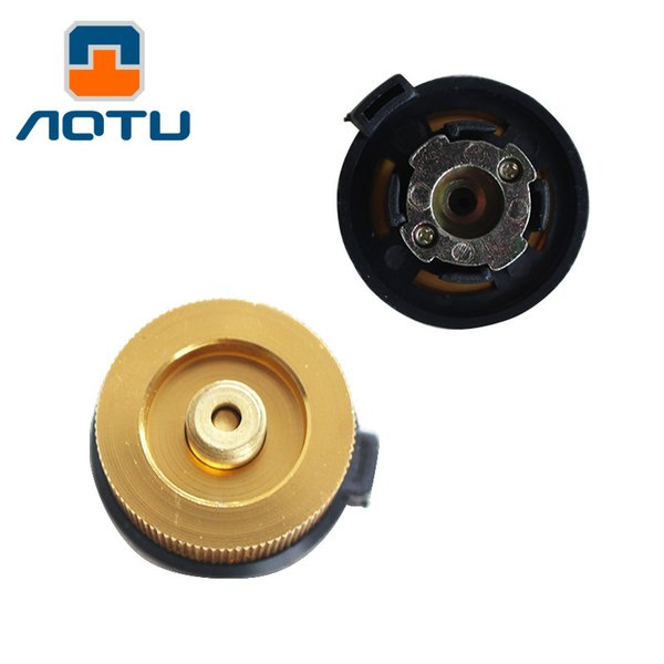 AOTU Outdoor Camping Equipment Stove Adaptor Split Type Furnace Converter Connector Auto-off Gas Cartridge Tank Adapter 117