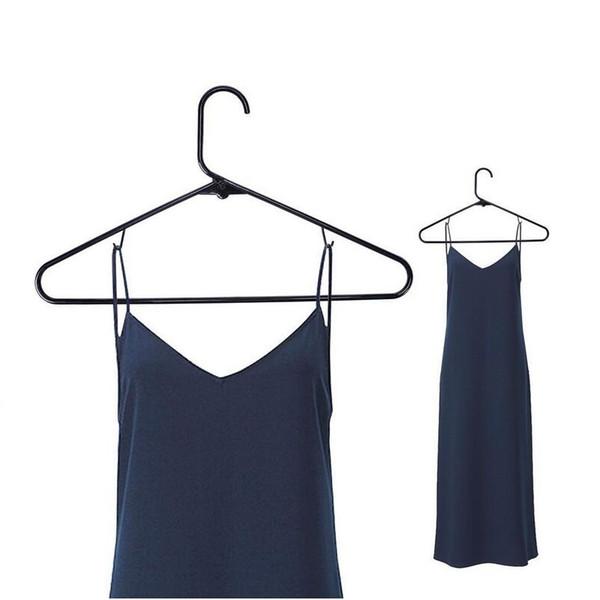 42cm Plastic Clothes Tubular Hanger Antiskid Garment Suit Coats Hangers Drying Clothing Adult Free Shipping ZA4130