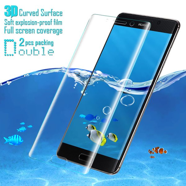 Wholesale- 2pcs/lot IMAK 3D Full Screen Coverage Nano Soft explosion-proof Film For Huawei Mate 9 Pro Screen Protector Not Glass Film
