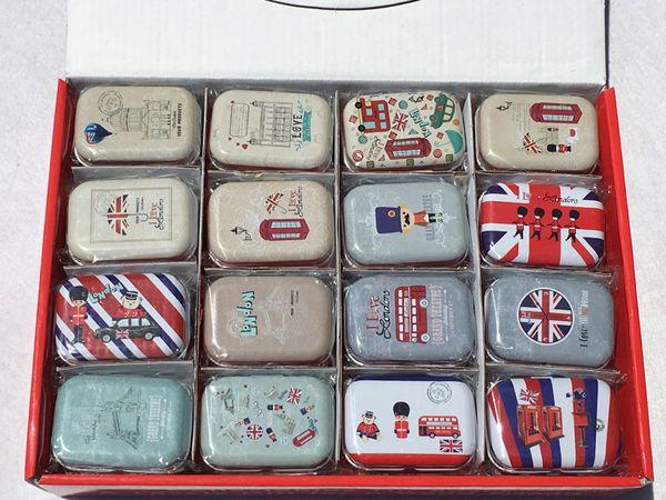 32pcs/lot Creative Collective Tin Boxes Small Tin Box Metal Storage tins Candy Box Cartoon Pill Box Cute Free Shipping
