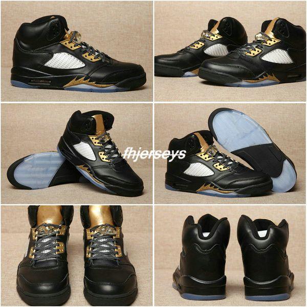 2017 Hot High Quality Air Retro 5 V Wings Olympic Men Basketball Shoes  Retros 5s Gold