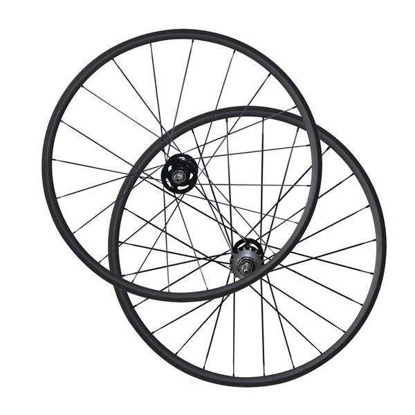 Flip flop Single Speed carbon fiber bicycle wheels 700C 24mm Clincher/Tubular carbon track wheelset 3K Matte Fix Gear Wheels