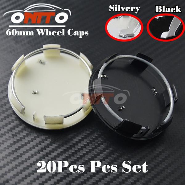 20PCS 60MM Wheels Rims Accessories Badge Car Wheel Rim Emblems Cover for 206 307 308 408 3008 301 508 2008 Auto Wheel hub Logo Caps