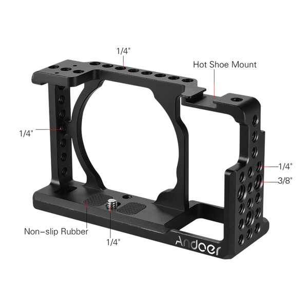 Freeshipping Video Camera Cage Protective Camera Stabilizer for Sony A6000 A6300 NEX7 ILDC to Mount Microphone Monitor Tripod Light