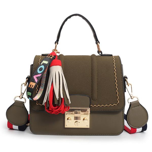 4a6a87c5636 Women'S Shoulder Bags Matte Leather Fashion Bag Brand Designer Ladies  Handbag New Weave Tassel Women Casual Tote Bag Side Bags Handbag Brands  From ...