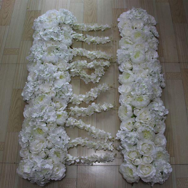 Yeni çiçekler kemer simülasyon ipek gül ortanca şakayık çiçek düğün masa süslemeleri, düğün yol kurşun çiçek 10 adet / grup