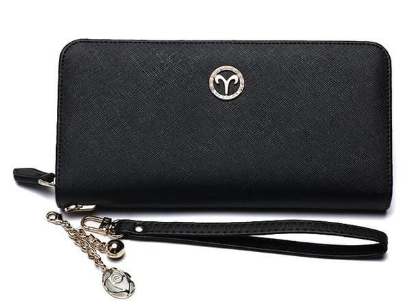 New fa hion women wallet genuine leather long lady coin pur e women clutch hipping