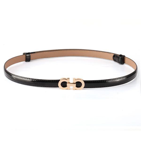 best selling Summer Fashion Women Luxury Belts Female Patent Leather Designer Slim Dress Belt Ladies Rose gold Buckle Waist Belts
