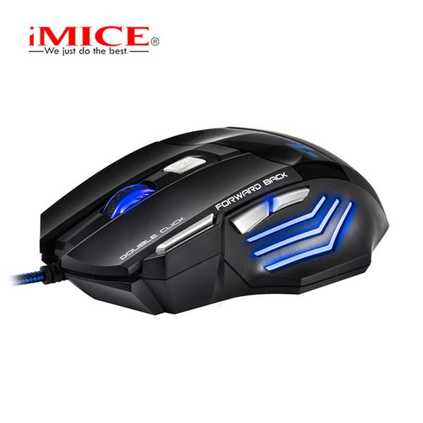 Zimoon Store Mouse professionale da gioco con cavo 7 tasti Mouse ottico USB Gamer Mouse per mouse per computer per LOL Dota 2