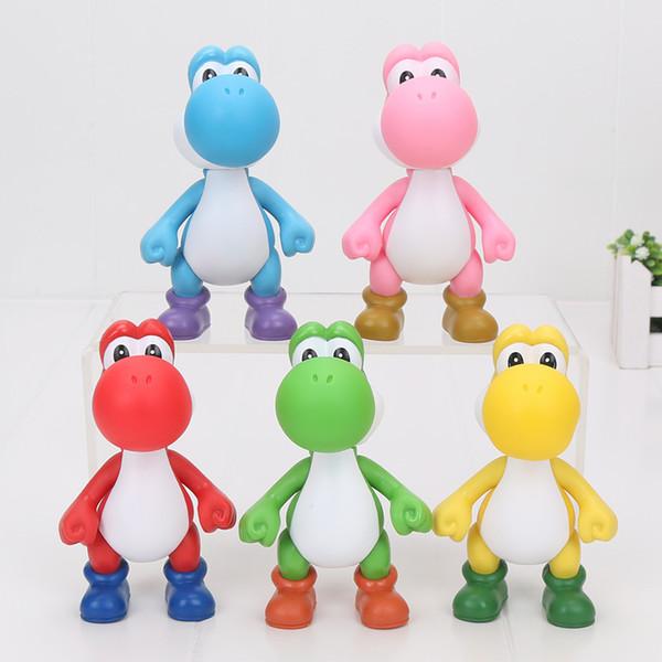 Acheter Super Mario Bros Figure Luigi Yoshi Figurines Figurine Jouet Poupée 5 Couleurs Pvc Mario Figurine Jouet Cadeau Pour Les Enfants Environ 5
