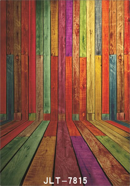 colored plank wall floor 5X7ft camera fotografica vinyl cloth photography backgrounds wedding children baby backdrop for photo studio
