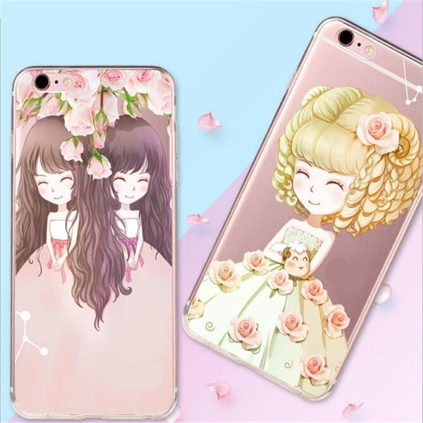 2017 new deft design TPU painted cell phone cases multi-typed cartoon back cover cell phone cases free shipping