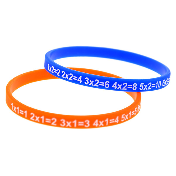 Wholesale 120PCS/Lot Multiplication Tables Silicone Wristband Great For Daily Reminder By Wearing This Colourful Bracelet