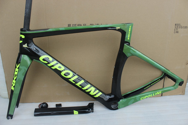 The new arrival for 2018 new model NK1K T1000 full carbon road bike frame, camouflage color/yellow/black, free ship!