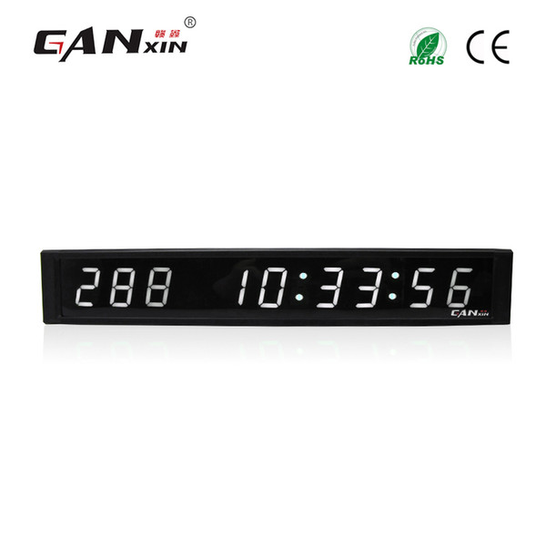[Ganxin]1 inch 9 Digits LED Wall Clock White Color LED Display Led Mini Digital Day Timer 999 Days Countdown