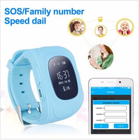 NewQ50 Kids GPS Tracker Smart Watch Phone SIM Quad Band GSM Safe SOS Call PK Q80 Q90 Smartwatch For Android & IOS