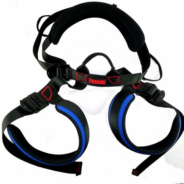 best selling Eluanshi Bust Seat Belt Outdoor Rock Safety Climbing Harness Rappelling Equipment Seat Belt With Carrying Bag