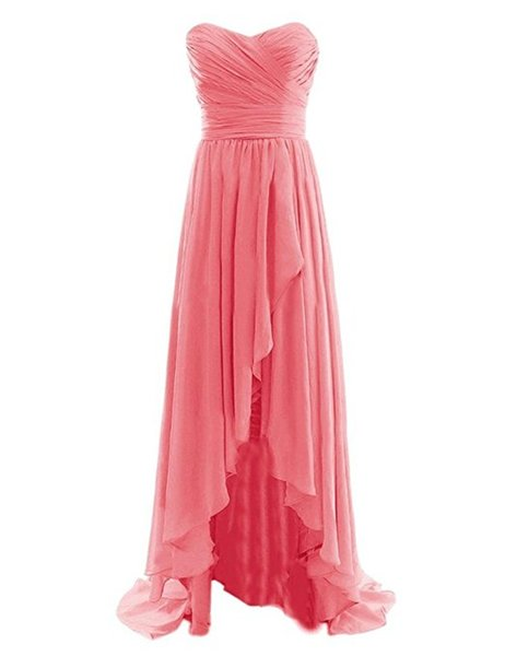 Chiffon Sweetheart Plus Size Coral Bridesmaid Dresses Long 2017 Sexy Maid Of Honor Dress Cheap Wedding Party Gown Free Shipping