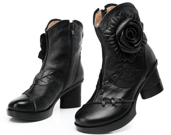 Black single boots