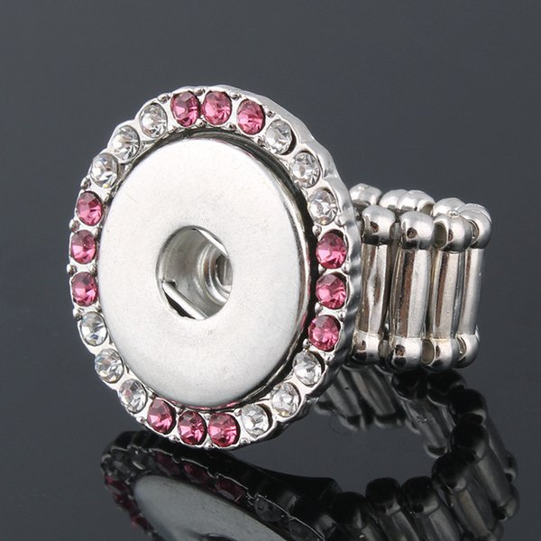 Hot adjustable Interchangeable Metal Xinnver snap rings trendy flexible fit 18MM snap buttons DIY fitting wholesale ZH016