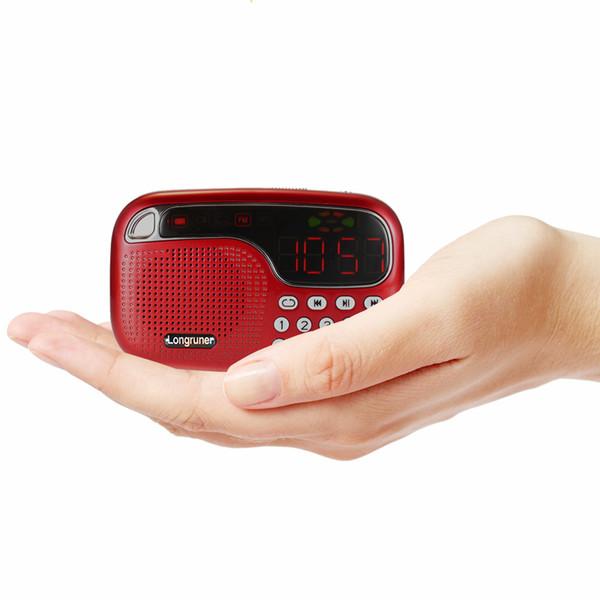 L-21 Mini FM Radio Speaker Digital Stereo Speaker High Fidelity Sound Quality LED Display Screen USB Disk TF Card 3.5mm AUX-IN