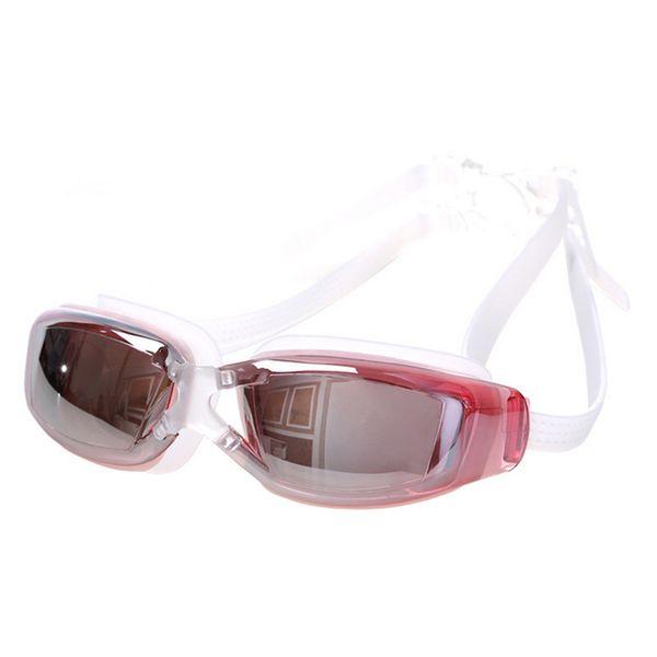 47c33bc0a6 Water Sports Professional Swimming Goggles Anti-Fog UV Adjustable Plating men  women Waterproof silicone glasses adult Eyewear Free Shipping