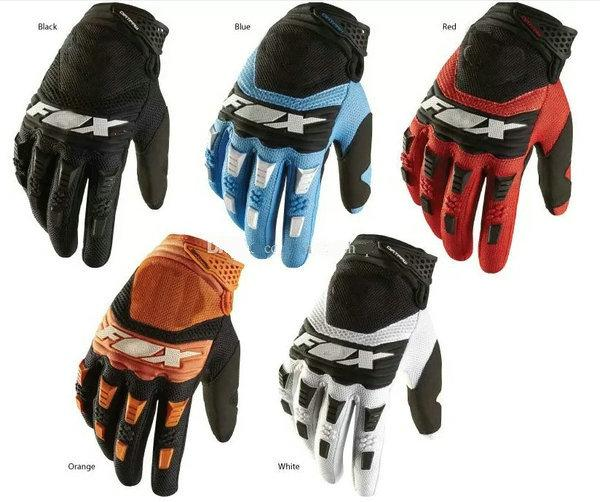 Free shipping motorcycle gloves New 2017 FOX mountain bike full finger cycling gloves 4 colors