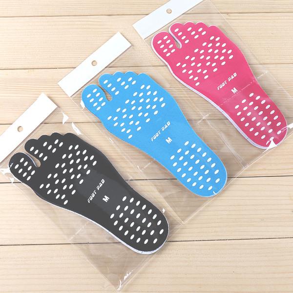 Suelas Nakefit de verano Zapatos de playa invisibles Almohadillas de pie de Nakefit para hombres Mujeres Zapatos Nakefit de Prezzo Zapatillas de pies de playa S-XL Negro azul