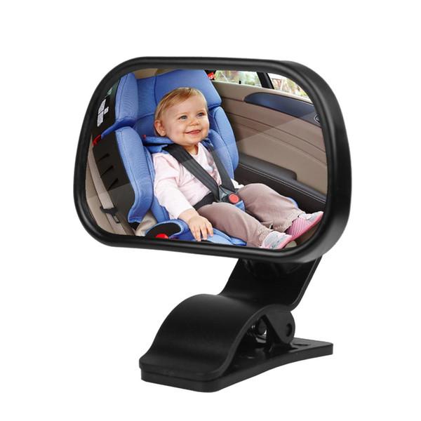 Chegada nova Universal Car Voltar Assento Traseiro Espelho Para O Bebê Segurança Para Crianças Com Clip e Otário Frete grátis