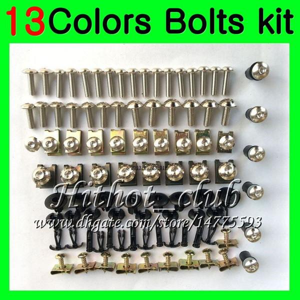 Fairing bolts full screw kit For YAMAHA R6 YZFR6 06 07 YZF-R6 06-07 YZF600 YZF 600 YZF R6 2006 2007 Body Nuts screws nut bolt kit 13Colors