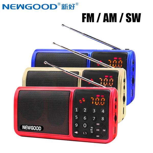 Mini Fm Pocket Radio 18650 Rechargeable Tf Usb Digital AM FM SW Full Band Radio Portable Mp3 Speaker Usb Receivers Loudspeakers
