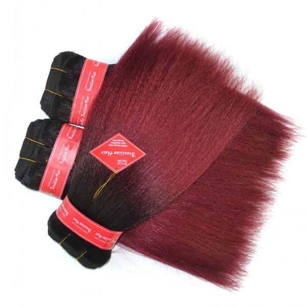 Productos brasileños para el cabello Queen de la armadura del cabello 100% humano de Sara, 30 cm, 12 pulgadas, 1 unids, negro, borgoña