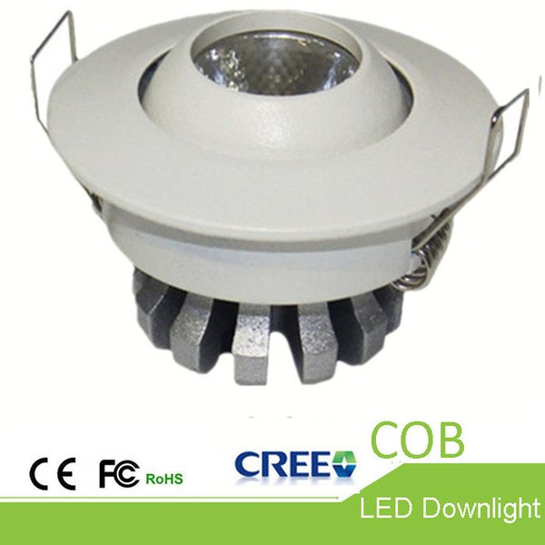 High-end LED Downlights CREE COB Downlight 3W Hall Lighting Bean angle 24° Embedded downlight Adjustable angle die-casting led ceiling lamp