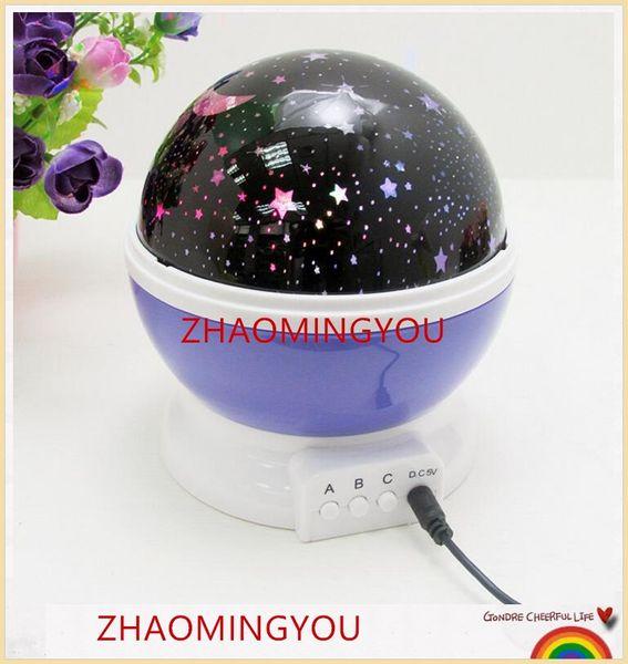 YON Romantic Rotating Spin Night Light Projector Children Kids Baby Sleep Lighting Sky Star Moon Master USB Lamp Led Projection