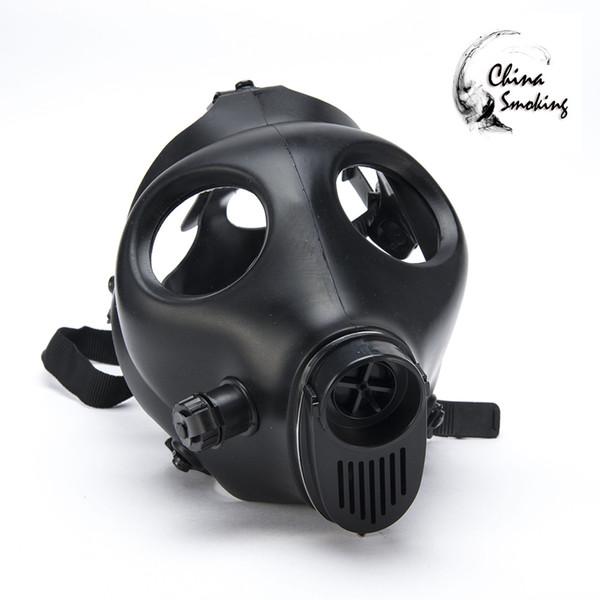 Maschera antigas Narghilè Solo maschere Tubi d'acqua Sigillato Acrilico Tubo di narghilè Bong Filtro Maschera di silicio solido e colorato di alta qualità