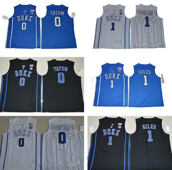 c66f7e1ac404 2017 Duke Blue Devils College Basketball Jerseys 0 Jayson Tatum 1 Harry  Giles New Shirts Black