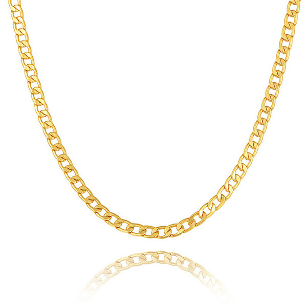 NAKELULU Black/Gold Color Stainless Steel Necklace For Men Jewelry Wholesale 5MM Trendy Long Figaro Chain Necklace Trendy