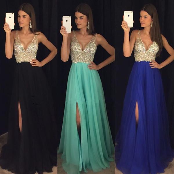 Low Cut Prom Dresses 2018