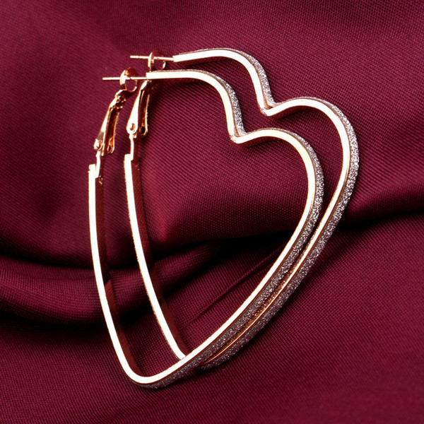 best selling New Love Heart Earrings Silver Gold Plated Hoop Earrings Rings Ear Pendants Fashion Jewelry for Women Gift DROP SHIP 170853