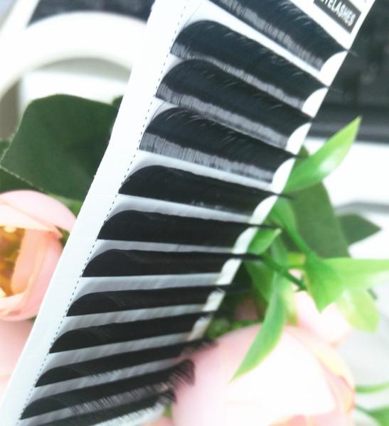 12Rows/Tray C/D/L Curl Eyelash Extension 3D Korea Silk Volume Eyelashes Makeup Natural Individual Lashes
