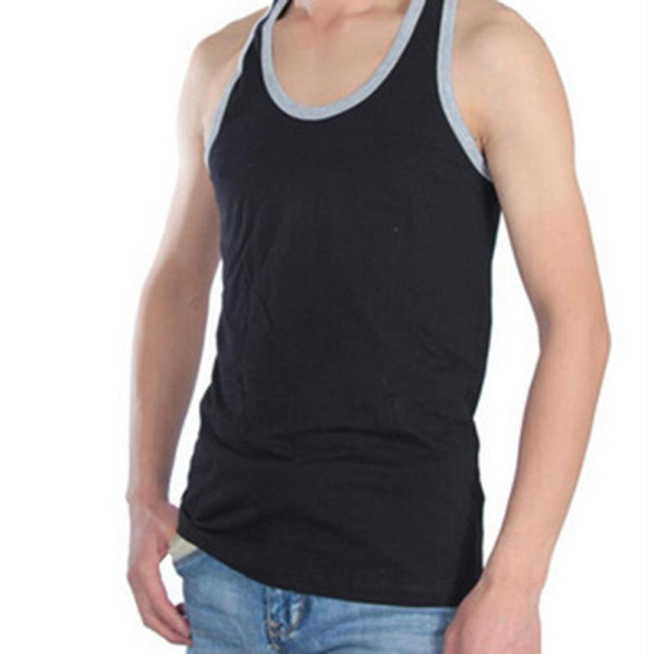 Toptan-erkek 2017 Yaz Yelek Spor Ince Konforlu Adam Pamuk Elbise T-shirt Fanila Eşofman Artı Boyutu Tops L-3XL X20