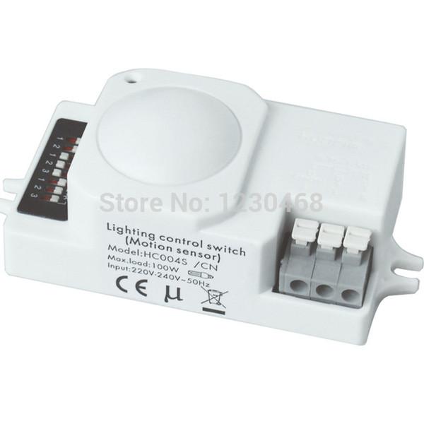 Wholesale- 10 pcs/lot Microwave Motion Sensor light switch with ON/OFF lighting control fuction, Economic model HC004S-CN