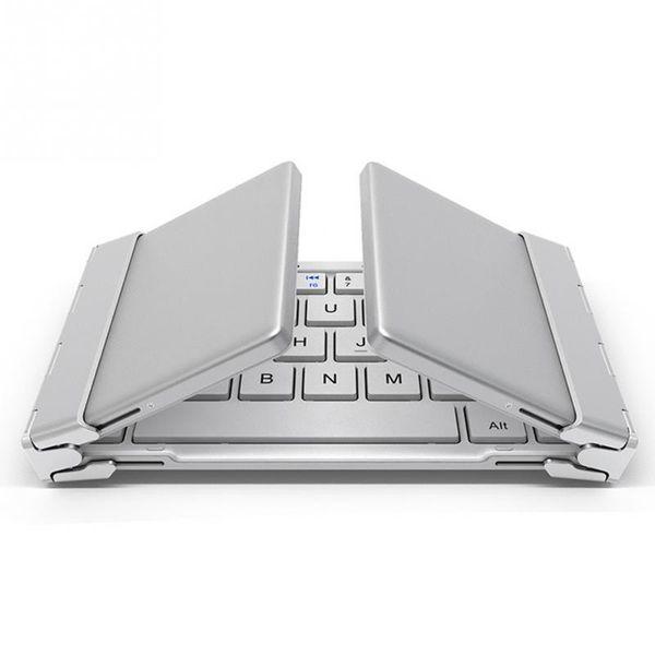 Intelligente Taschenklappbare Tastatur Aluminium Bluetooth Faltbare Universal Wireless Travel Tastatur für iPhone iPad PC Tablet-Handy