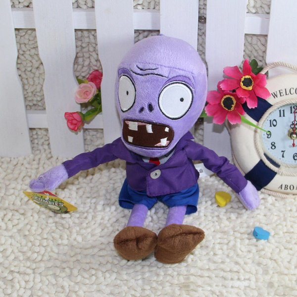 New Arrival 28cm Purple Zombie Plants vs zombies Plush Toy Doll Stuffed Animals Toys for Children Birthday Gift